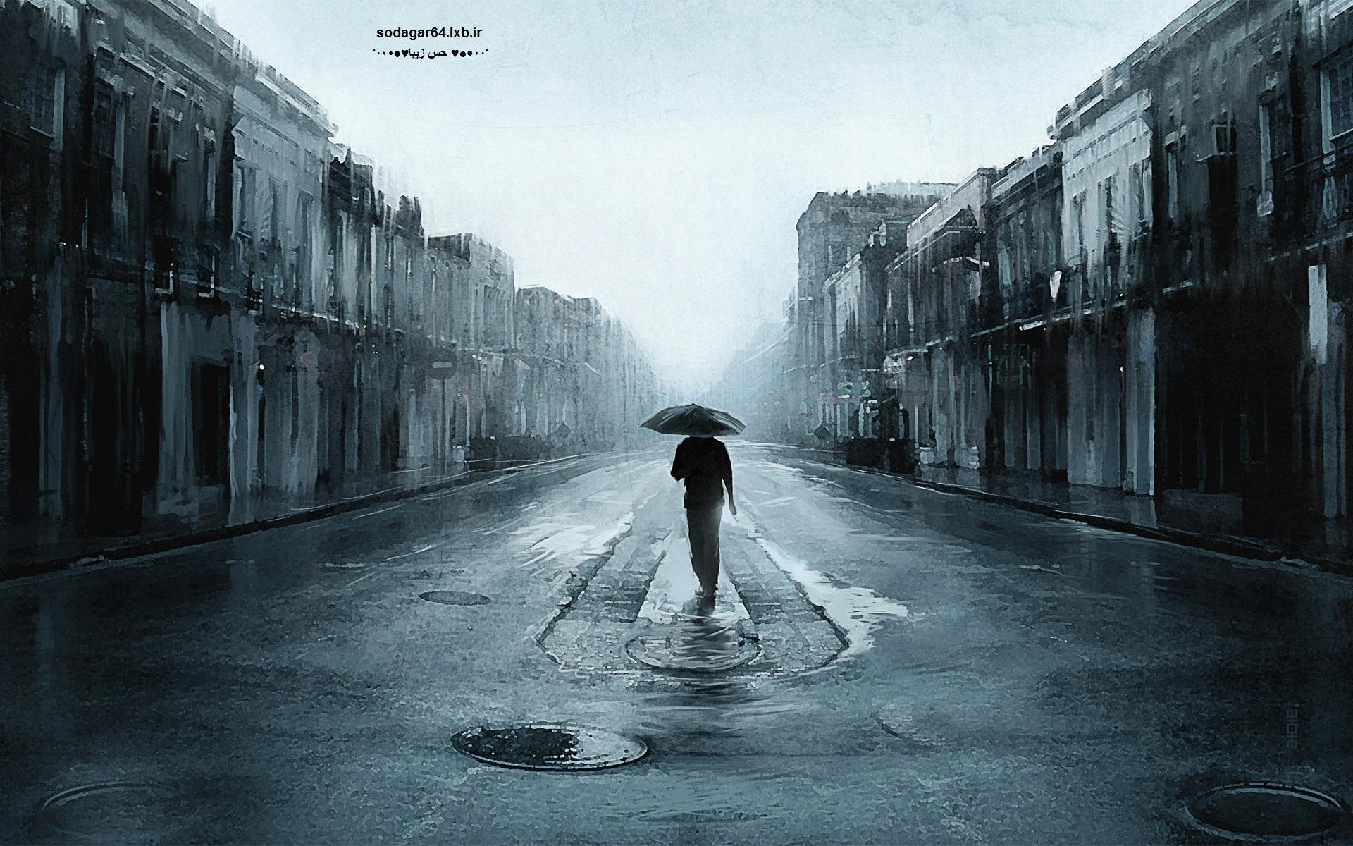 باران حس تنهایی.تنهایی.